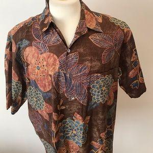 Tori Richard Hawaiian floral shirt sz XL